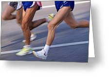Three Runners Greeting Card by Sami Sarkis