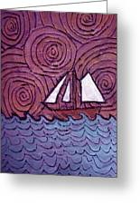 Three Sails And The Wind Greeting Card