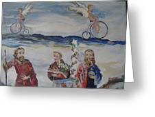 Three Saints Greeting Card
