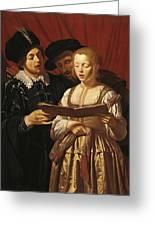 Three Singers Greeting Card