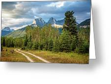 Three Sisters And A Dirt Road Greeting Card