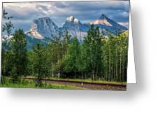 Three Sisters And The Railroad Greeting Card