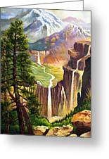 Three Sisters Falls Greeting Card