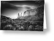 Three Sisters Formation At Monument Valley Greeting Card