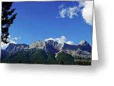 Three Sisters Ridges Canmore Alberta Gateway To Banff National Park Greeting Card