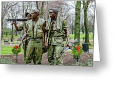 Three Soldiers Memorial Greeting Card