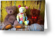 Three Special Bears Greeting Card