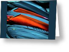 Three Sport Car Hoods Abstract Greeting Card