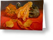 Three Squash Greeting Card