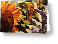 Three Sunflowers Greeting Card