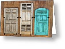 Three Taos Doors Greeting Card