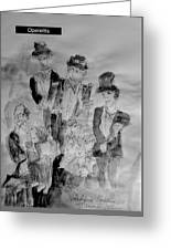 Three Tenors And A Pianist Greeting Card
