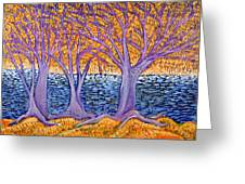 Three Trees Greeting Card