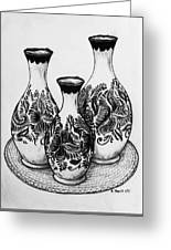 Three Vases Greeting Card