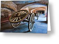 Three Wheeled Wagon Greeting Card