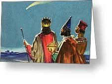 Three Wise Men Greeting Card by English School