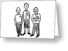 Three Workers Greeting Card