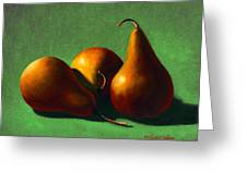 Three Yellow Pears Greeting Card
