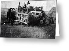 Threshing Day Greeting Card