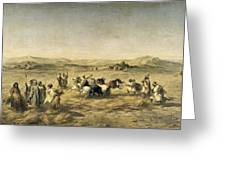 Threshing Wheat In Algeria Greeting Card