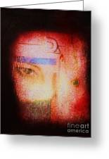 Through A Glass Darkly Greeting Card by Roberto Prusso