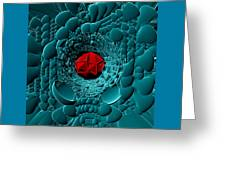 Through Blue-turquoise Greeting Card