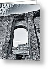 Through The Arch In A Sicily Ruin Greeting Card