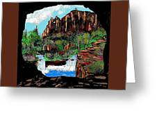 Through The Cave Greeting Card