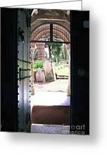 Through The Door Of St Mylor Greeting Card