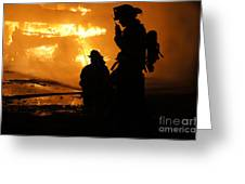 Through The Flames Greeting Card by Benanne Stiens