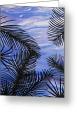 Through The Fronds Greeting Card