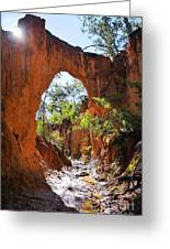 Through The Golden Arch Greeting Card