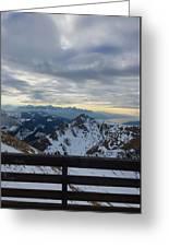 Through The Mountains  Greeting Card