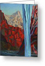 Through The Narrows, Zion Greeting Card by Erin Fickert-Rowland