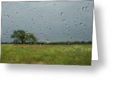 Through The Raindrops Greeting Card