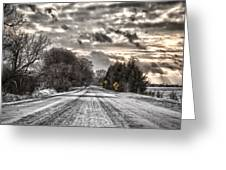 Through The Snow Greeting Card