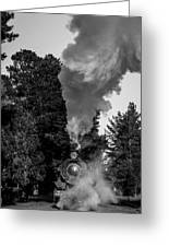 Through The Steam Greeting Card