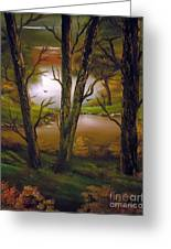 Through The Trees. Greeting Card by Cynthia Adams