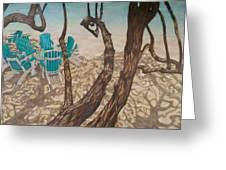 Through The Trees, St John Greeting Card