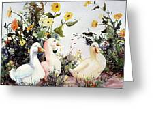 Through The Weeds Large Greeting Card