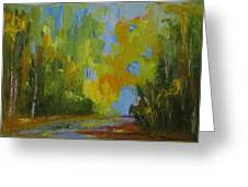 Through The Woods Abstractly Greeting Card