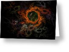 Through The Worm Hole Greeting Card