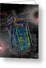 Tardis - Through Time And Space Greeting Card