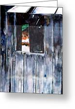 Thru The Barn Window Greeting Card