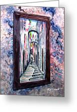 Thru The Looking Glass Greeting Card