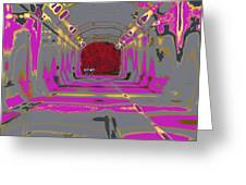 Thru The Tunnel Greeting Card