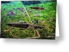 Thuds Over Vietnam Oil Greeting Card