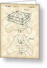 Thumb Wrestling Game Patent 1991 - Vintage Greeting Card