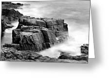Thunder Along The Acadia Coastline - No 1 Greeting Card