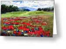 Thunder Clouds Over Bavarian Meadow Greeting Card